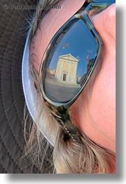 churches, croatia, europe, helene patrick, helenes, people, reflections, sunglasses, vertical, womens, wt group istria, photograph