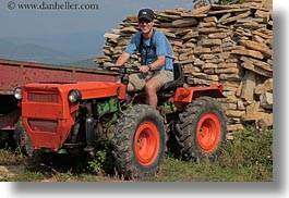 croatia, emotions, europe, helene patrick, horizontal, patricks, smiles, tractor, wt group istria, photograph