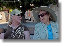 clothes, croatia, emotions, europe, happy, hats, horizontal, judy, laughing, lolly, people, senior citizen, smiles, straw hat, sunglasses, wt group istria, photograph