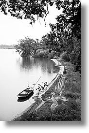 bay, birds, black and white, boats, bohemia, czech republic, europe, vertical, photograph