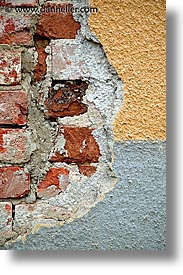 bohemia, bricks, czech republic, europe, plaster, vertical, photograph
