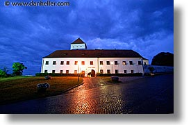 bohemia, castles, czech republic, europe, horizontal, nite, slow exposure, photograph