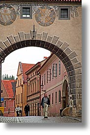 arches, cesky krumlov, czech republic, europe, krumlov, vertical, photograph