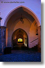 arches, cesky krumlov, czech republic, europe, gothic, slow exposure, vertical, photograph