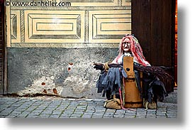 beggar, cesky krumlov, czech republic, europe, horizontal, witch, photograph