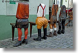 cesky krumlov, chairs, czech republic, europe, horizontal, legs, photograph