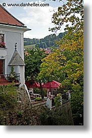cafes, cesky krumlov, czech republic, europe, hotels, vertical, photograph