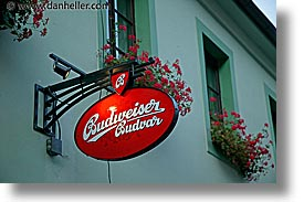 budweiser, cesky krumlov, czech republic, europe, horizontal, shops, signs, photograph
