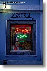 cesky krumlov, czech republic, europe, eve, evening, pizzaria, pizzeria, shops, slow exposure, uno, vertical, photograph