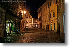 cesky krumlov, czech republic, europe, horizontal, krumlov, long exposure, nite, streets, photograph