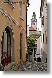 cesky krumlov, czech republic, europe, krumlov, towers, vertical, photograph