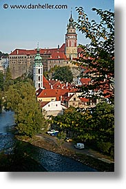 cesky krumlov, czech republic, europe, krumlov, rivers, towns, vertical, photograph