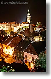 cesky krumlov, czech republic, europe, krumlov, long exposure, nite, towns, vertical, photograph
