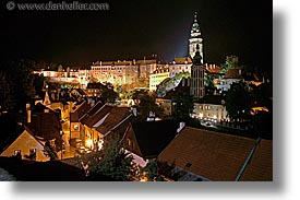 cesky krumlov, czech republic, europe, horizontal, krumlov, long exposure, nite, towns, photograph