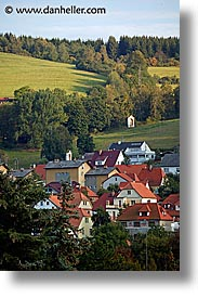 cesky krumlov, czech republic, europe, hills, towns, vertical, photograph