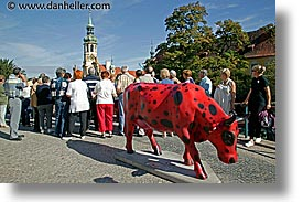 buildings, cows, czech republic, europe, horizontal, loreta, prague, photograph