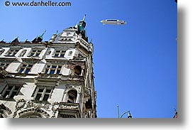 blimp, buildings, czech republic, europe, horizontal, prague, photograph