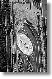 buildings, churches, clocks, czech republic, europe, prague, vertical, photograph