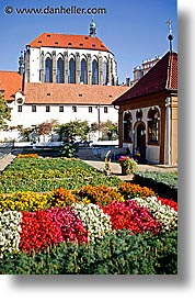 buildings, churches, czech republic, europe, gardens, prague, vertical, photograph
