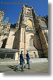 buildings, churches, czech republic, europe, guards, prague, vertical, photograph
