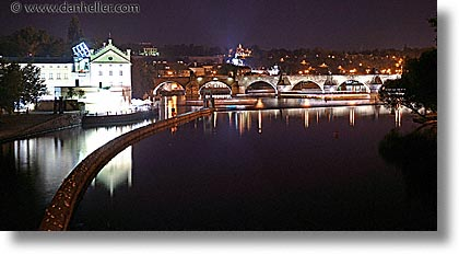 bridge, charles, charles bridge, czech republic, europe, horizontal, long exposure, nite, panoramic, prague, photograph