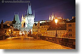 bridge, charles, charles bridge, czech republic, europe, horizontal, long exposure, nite, prague, towers, photograph