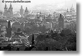 black and white, cityscapes, czech republic, europe, horizontal, prague, photograph