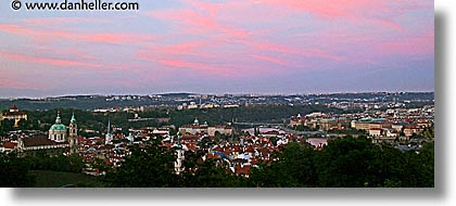 cityscapes, czech republic, europe, eve, evening, horizontal, panoramic, prague, slow exposure, photograph
