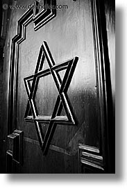 black and white, czech republic, doors, europe, jewish, jewish quarter, museums, prague, vertical, photograph