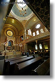 czech republic, europe, jewish quarter, prague, slow exposure, spanish, spanish synagogue, synagogue, vertical, photograph