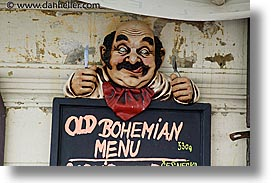 bohemian, czech republic, europe, horizontal, menu, prague, signs, photograph