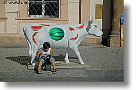 cows, czech, czech republic, europe, horizontal, people, prague, photograph