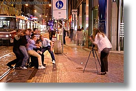 czech republic, europe, groups, horizontal, nite, people, prague, slow exposure, photograph