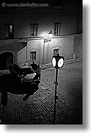 black and white, corner, czech republic, europe, nite, prague, slow exposure, streets, vertical, photograph