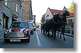 czech republic, europe, horizontal, horses, mini, prague, streets, photograph