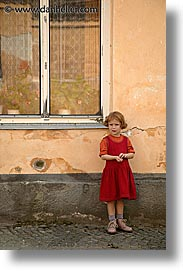 czech republic, europe, girls, red, slavonice, vertical, photograph
