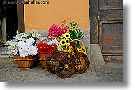 czech republic, europe, horizontal, slavonice, tricycle, wicker, photograph