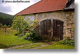 barn, czech republic, doors, europe, horizontal, sumava forest, photograph