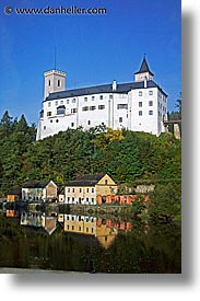 czech republic, europe, rivers, sumava forest, vertical, vltava, photograph