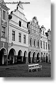 black and white, czech republic, europe, telc, vertical, photograph