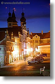 czech republic, europe, long exposure, nite, telc, vertical, photograph