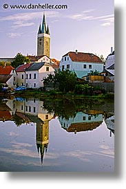 czech republic, europe, reflect, telc, vertical, photograph