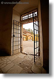 czech republic, doors, europe, gated, terezin, vertical, photograph