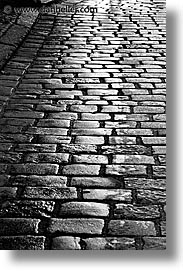 cobblestones, czech republic, europe, trebon, vertical, photograph