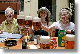 beers, czech republic, europe, groups, horizontal, people, threes, photograph