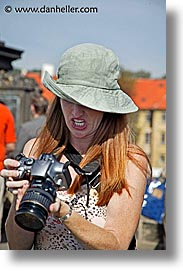cameras, czech republic, europe, people, photographers, shelley, shooting, vertical, womens, photograph