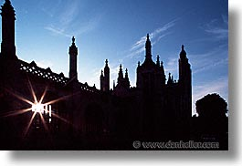 cambridge, england, english, europe, horizontal, kings, kings college, silhouettes, united kingdom, photograph