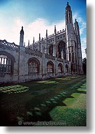 cambridge, england, english, europe, kings college, lawn, united kingdom, vertical, photograph