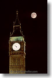 bens, big, big ben, cities, england, english, europe, full moon, london, nite, united kingdom, vertical, photograph