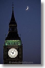 bens, big, big ben, cities, england, english, europe, london, moon, nite, united kingdom, vertical, photograph